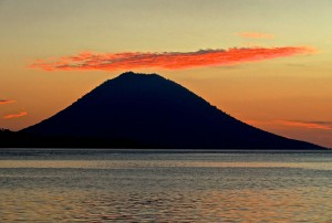 Sunset over Manado Tua
